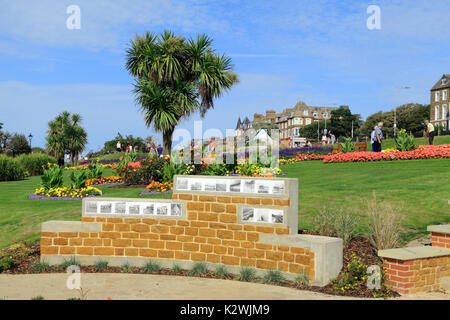 'Time and Tide' area, Esplanade Gardens, Cliff top, Marine Parade, Hunstanton, Norfolk, England, UK - Stock Photo
