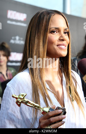 Premiere Of Aviron Pictures' 'Kidnap'  Featuring: Halle Berry Where: Hollywood, California, United States When: - Stock Photo