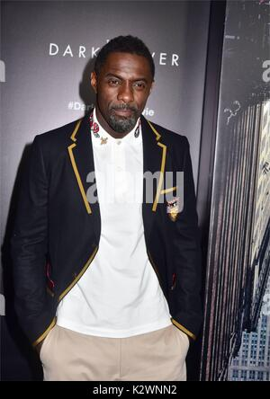 New York premiere of 'The Dark Tower' at the Museum of Modern Art in New York City.  Featuring: Idris Elba Where: - Stock Photo
