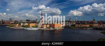 Stockholm. Panoramic image of Stockholm, Sweden during sunny day. - Stock Photo