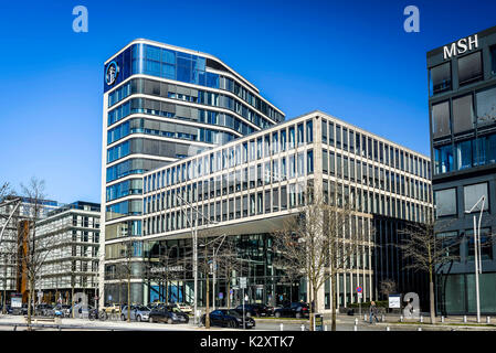 Company headquarters of daring and nail in the big Grasbrook in the harbour city of Hamburg, Germany, Europe, Firmensitz - Stock Photo