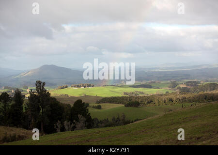 Multiple valuesView looking towards Kakepuku Volcano from Te Awamutu, North Island, New Zealand - Stock Photo