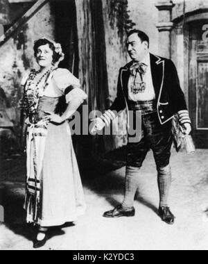 Enrico Caruso - portrait of the Italian tenor in Gaetano Donizetti 's opera ' L' elisir d'amore ' (The Elixir of - Stock Photo