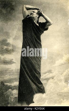 CHALIAPIN, Fyodor - as Mephistopheles in Boito 's opera. Russian bass,  1873-1938 - Stock Photo