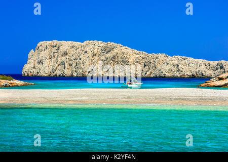 Beautiful Kounoupa beach,Astypalea island,Greece. - Stock Photo