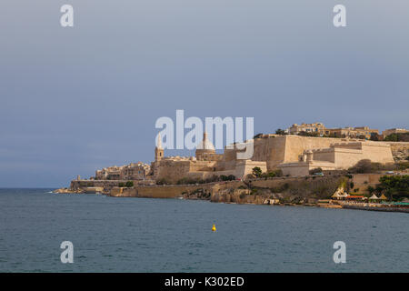 View on Valletta from the sea. - Stock Photo
