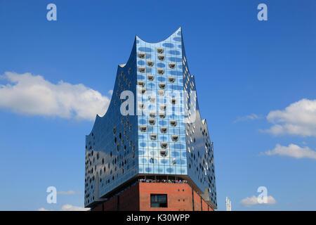 Elbphilharmonie, Elbe philharmonic concert hall, Hamburg harbour, Germany, Europe - Stock Photo