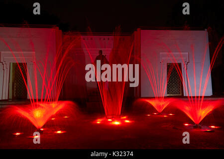 Tanguis Fountain at the Magic Water Circuit (world's largest fountain complex), Park of the Reserve, Lima, Peru, - Stock Photo