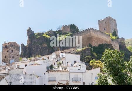 Cazorla town and castle, Jaen, Spain - Stock Photo