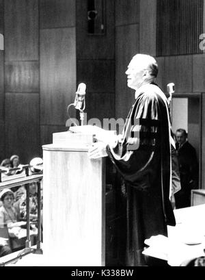 Candid portrait of American educational administrator and President of Johns Hopkins University Milton S. Eisenhower - Stock Photo
