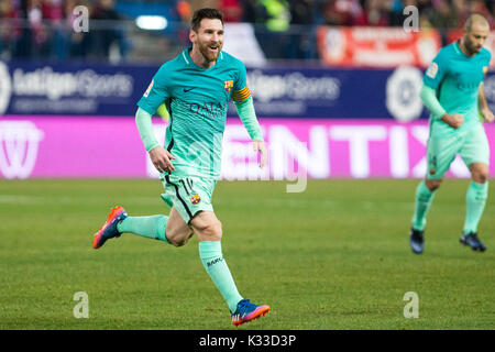 FC Barcelona's Leo Messi. The Argentine player is a soccer star in Spain and the world. Considered the best of all - Stock Photo