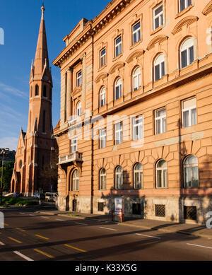Calvinist Church, Budapest, Hungary - Stock Photo