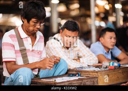 Jade Market, Mandalay, Mandalay Region, Myanmar - Stock Photo