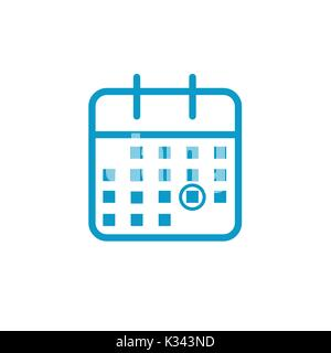 Calendar image with specific date - Stock Photo