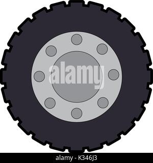 tractor tire isolated icon - Stock Photo