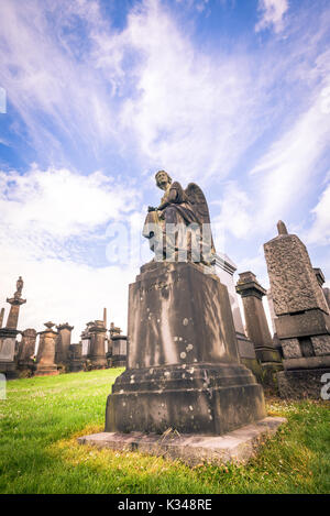 Glasgow Necropolis monuments grave - Stock Photo