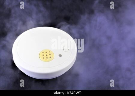 An image of a somke detector - fire alarm - Stock Photo