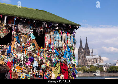 Germany, Cologne, the trash house of the artist H.A. Schult on the banks of the river Rhine in the district Deutz, - Stock Photo