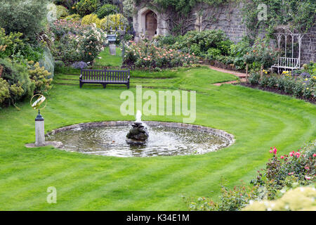 Courtyard garden of Windsor Castle near London, England - Stock Photo