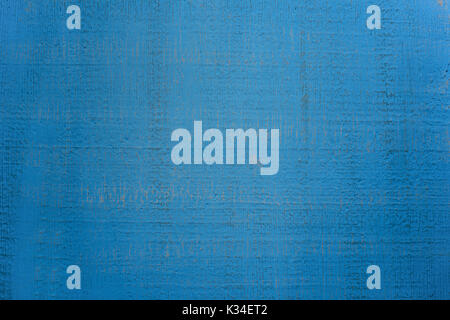 Vintage abstract plaster wall blue background with dark stripes. - Stock Photo