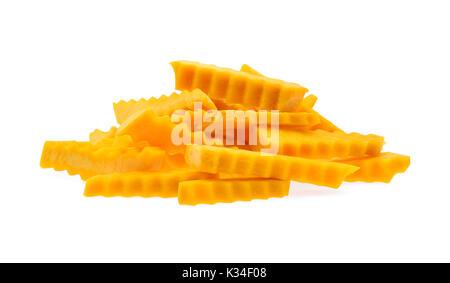 Pumpkin slices on white background. - Stock Photo