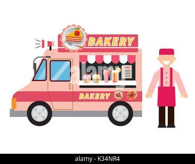 Food Truck Retro Style Stock Photo 162588610