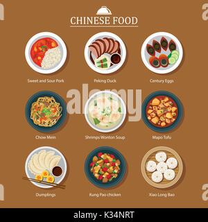 set of chinese food - Stock Photo