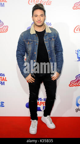 Photo Must Be Credited ©Alpha Press 080004 04/12/2016 Jonas Blue Capital fm Jingle Bell Ball at the O2 Arena in - Stock Photo