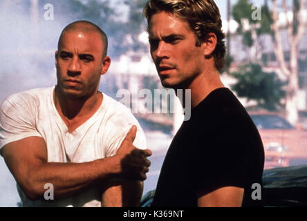 THE FAST AND THE FURIOUS VIN DIESEL, PAUL WALKER     Date: 2001 - Stock Photo