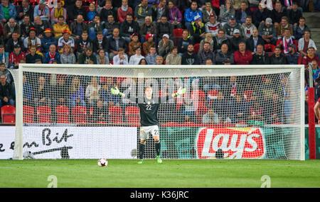 Prague, Czech Republic. 01st Sep, 2017. FIFA World Cup 2018 Qualification, Prague, September 01, 2017 Marc-Andre - Stock Photo