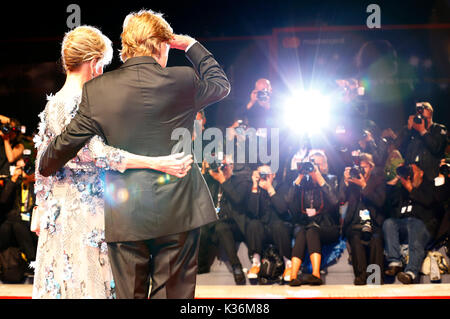 Robert Redford and Jane Fonda attending the 'Our Souls at Night' premiere at the 74th Venice International Film - Stock Photo