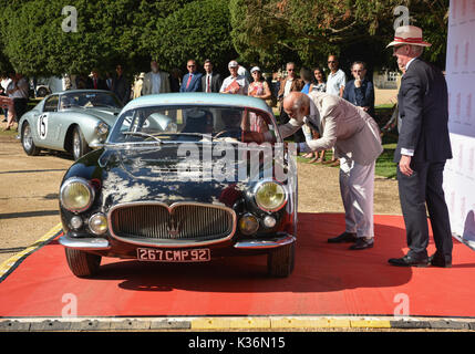 Hampton Court Palace, UK. 1st Sep, 2017. Prince Michael of Kent opens the Concours of Elegance. Credit: Marc Wainwright - Stock Photo