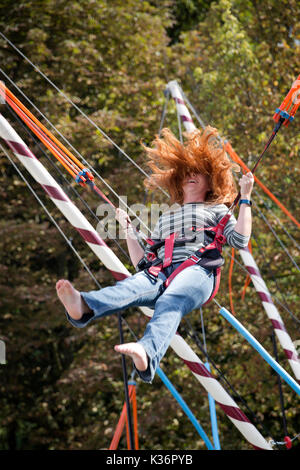 Breda, Holland. 02nd Sep, 2017. A woman participant in the meeting of redheads. As every year, in the month of September - Stock Photo