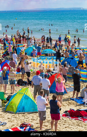 Bournemouth, Dorset UK. 2nd Sep, 2017. The third day of the tenth anniversary of the Bournemouth Air Festival with - Stock Photo