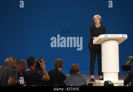 Photo Must Be Credited ©Alpha Press 079965 02/10/2016 Theresa May   Conservative Party Conference 2016 At The Birmingham - Stock Photo