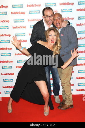 Photo Must Be Credited ©Alpha Press 078237 03/10/2016 Liam Fox, Michelle Hardwick, Bhasker Patel at The Inside Soap - Stock Photo
