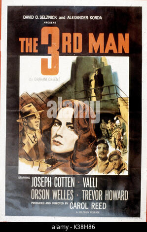 THE THIRD MAN POSTER     Date: 1949 - Stock Photo