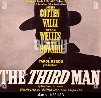 THE THIRD MAN POSTERS RELEASE BY LONDON FILM PRODUCTIONS AND BRITISH LION FILM CORPORATION PICTURE FROM THE RONALD - Stock Photo