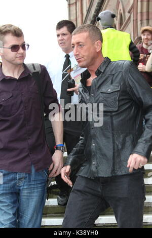Christopher Maloney performing at Chester pride - Stock Photo