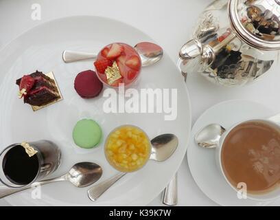 Afternoon Tea at The Lanesborough in Park Lane, London, England - Stock Photo