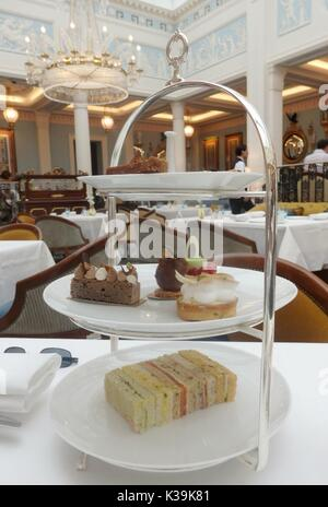 Afternoon Tea at The Lanesborough in Park Lane, London, England - Stock Photo