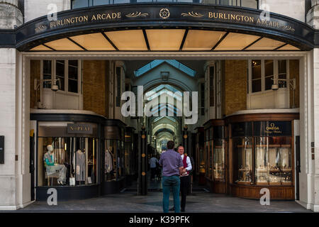 The Entrance To Burlington Arcade, London, UK - Stock Photo