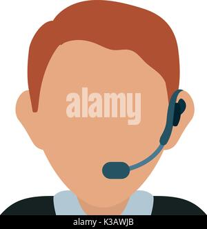 operator man vector illustration - Stock Photo