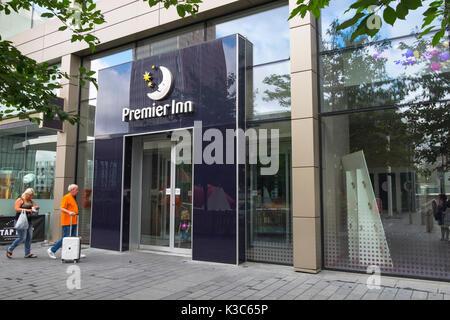 Premier Inn Westfield branch hotel, Stratford, London, uk - Stock Photo