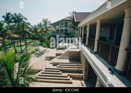 Tangalle, Southern Province, Sri Lanka - April 27, 2017: The Anantara beach haven resort in Tangalle, Sri Lanka - Stock Photo