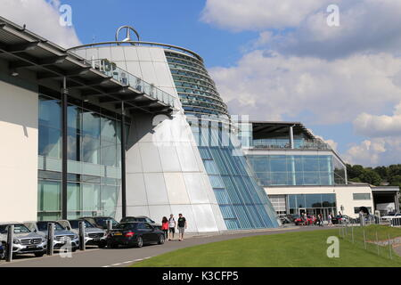 Mercedes-Benz World, Brooklands, Weybridge, Surrey, England, Great Britain, United Kingdom, UK, Europe - Stock Photo