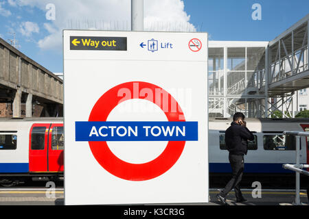 Acton Town station in west London, UK - Stock Photo