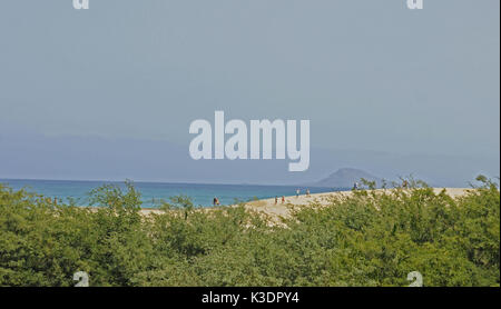 Ponta Preta brook, Santa Maria, island Sal, Cape Verde islands, cape Verde - Stock Photo