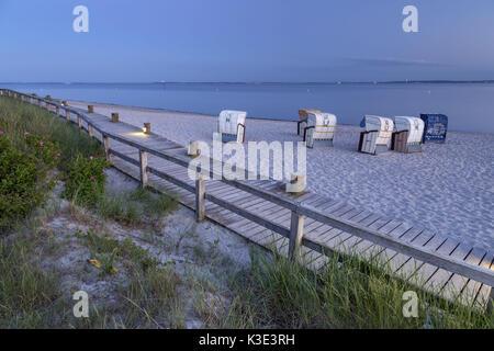 Beach on the Baltic Sea, Pelzerhaken, Neustadt in Holstein, Ostholstein, Schleswig - Holstein, Germany, - Stock Photo