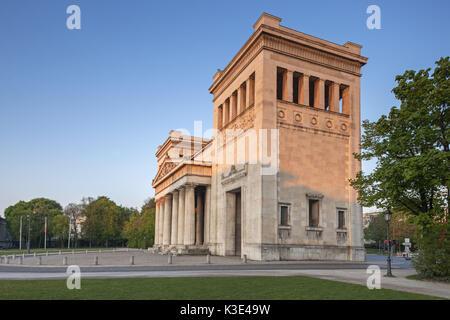 Propyläen on the Königsplatz, Munich, Maxvorstadt, Upper Bavaria, Bavaria, Germany, - Stock Photo